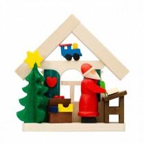 Graupner - Haus Weihnachtsmann als Baumschmuck mit Wunschzettel