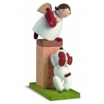 Günter Reichel - Schutzengel auf Sockel mit Hund