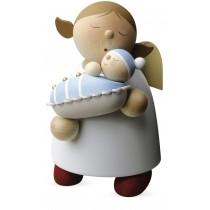Günter Reichel - Schutzengel mit Baby Junge (16cm)