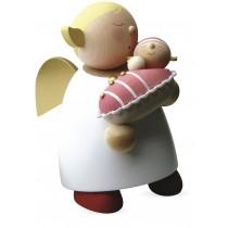 Günter Reichel - Schutzengel mit Baby Mädchen (16cm)
