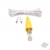 Ersatzbeleuchtung für Herrnhuter Sterne ø 13 cm mit LED und gelber Kappe (A1e/A1b)