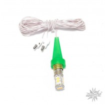 Ersatzbeleuchtung für Herrnhuter Sterne ø 13 cm mit LED und grüner Kappe (A1e/A1b)