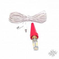 Ersatzbeleuchtung für Herrnhuter Sterne ø 13 cm mit LED und roter Kappe (A1e/A1b)