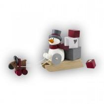 Hobler - Schneemann Otto mit Geschenkeschlitten