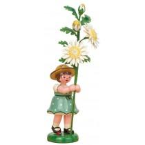 Hubrig Volkskunst - Blumenkinder - Blumenmädchen mit Edelweißmargerite
