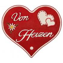 Hubrig Volkskunst - Magnetpin Herzen - Von Herzen - 8 cm