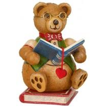 Hubrig Volkskunst - Hubiduu - Teddy mit Herz - Bücherwurm