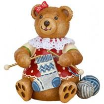 Hubrig Volkskunst - Hubiduu - Teddy mit Herz - Strickliesel