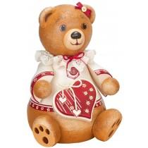 Hubrig Volkskunst - Hubiduu - Teddy mit Herz - Unsere Elli