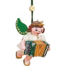 Hubrig Volkskunst - Baumbehang - Engel mit Akkordeon
