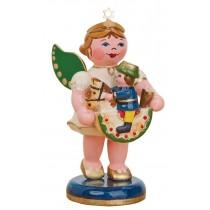 Hubrig Volkskunst - Engel mit Reiterlein