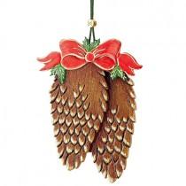 Hubrig Volkskunst - Baumbehang - Tannenzapfen mit Schleife