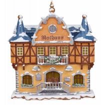 Hubrig - Winterkinder - Rathaus - elektrisch beleuchtbar
