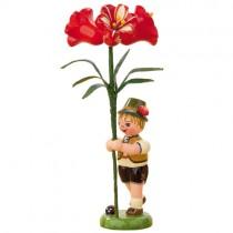 Blumenkinder - Blumenjunge mit Amarylis 11cm