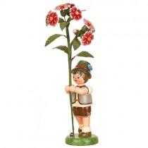 Blumenkinder - Blumenjunge mit Buschnelke 17cm