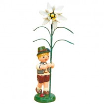 Hubrig - Blumenkinder - Blumenjunge mit Edelweiß 11 cm