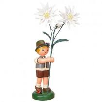 Hurbig - Blumenkinder - Blumenjunge mit Edelweiß 24cm
