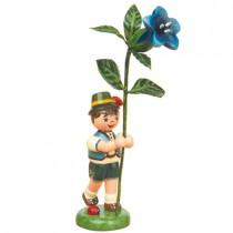 Hurbig - Blumenkinder - Blumenjunge mit Enzian 11 cm