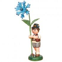 Hubrig - Blumenkinder - Blumenjunge mit Kornblume 11 cm