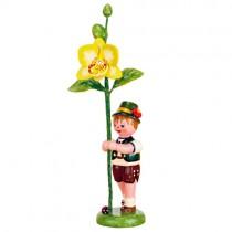 Blumenkinder - Blumenjunge mit Orchidee 11cm