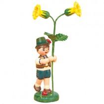Hubrig - Blumenkinder - Blumenjunge mit Schlüsselblume 11 cm