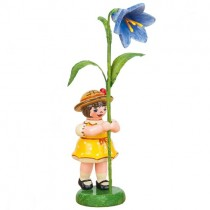 Hubrig - Blumenkinder - Blumenmädchen mit Blauglöckchen 7cm