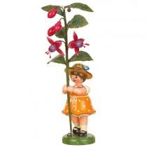Hubrig - Blumenkinder - Blumenmädchen mit Fuchsie 17cm