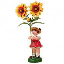 Hubrig - Blumenkinder - Blumenmädchen mit Kokardenblume 24cm