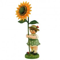 Hubrig - Blumenkinder - Blumenmädchen mit Sonnenblume 7cm