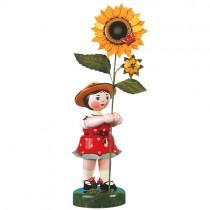 Hubrig - Blumenkinder - Blumenmädchen mit Sonnenblume rot 53cm