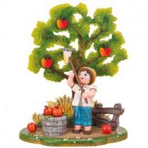 Hubrig Volkskunst - Landidyll - Apfelernte 13cm