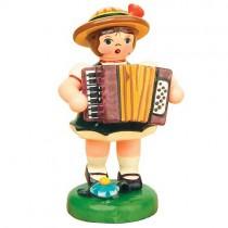 Hubrig - Musikkinder - Mädchen mit Akkordeon 6,5 cm