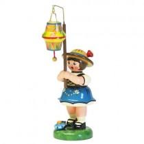 Hubrig - Lampionkinder - Mädchen mit kegelförmigen Lampion 8cm