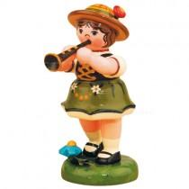 Hubrig Volkskunst - Frühling und Sommer - Lampion- und Musikkinder - Mädchen mit Klarinette - 6,5 cm