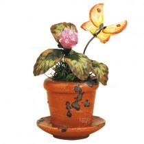 Hubrig Volkskunst - Frühling und Sommer - Minis Grünzeug - Blumentopf Kleeblume - 6 cm