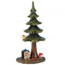 Hubrig Volkskunst - Frühling und Sommer - Minis Grünzeug - Sommerbaum mit Holzstapel - 16 cm