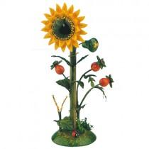 Hubrig Volkskunst - Frühling und Sommer - Minis - Blumeninsel Sonnenblume - 14 cm