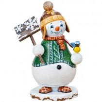 Hubrig Volkskunst - Räuchermänner und Räucherwichtel - Schneemann Schneegestöber