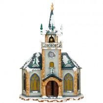 Hubrig - Winterkinder - Kirche - elektrisch beleuchtbar