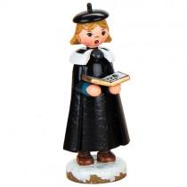 Hubrig Volkskunst - Winterkinder - Kurrendemädchen mit Buch - 8 cm