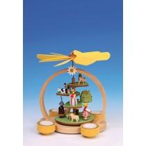 Knuth Neuber Teelichtpyramide Sommerwiese 24 cm