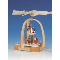Knuth Neuber Teelichtpyramide Weihnachtsmann und Reiterlein 24cm