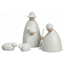 Köhler - Hirtengruppe mit zwei Schafen, klein, weiß