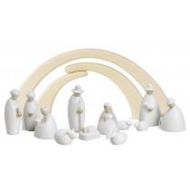 Köhler - Krippenfiguren klein, 13-teilig, weiß