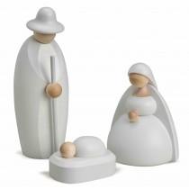 Köhler - Christi Geburt (Maria, Josef, Krippe) klein, weiß