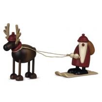 Köhler - Rentier Rudolf mit Weihnachtsmann auf Ski