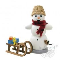 Kuhnert - Schneemann mit Schlitten und Maus