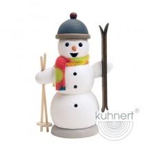 Kuhnert - Schneemann mit Skiern