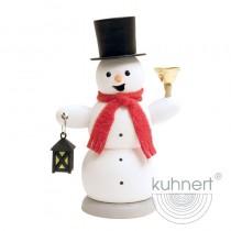 Kuhnert - Schneemann mit Laterne und Glocke