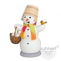 Kuhnert - Schneemann mit Schneeballkorb